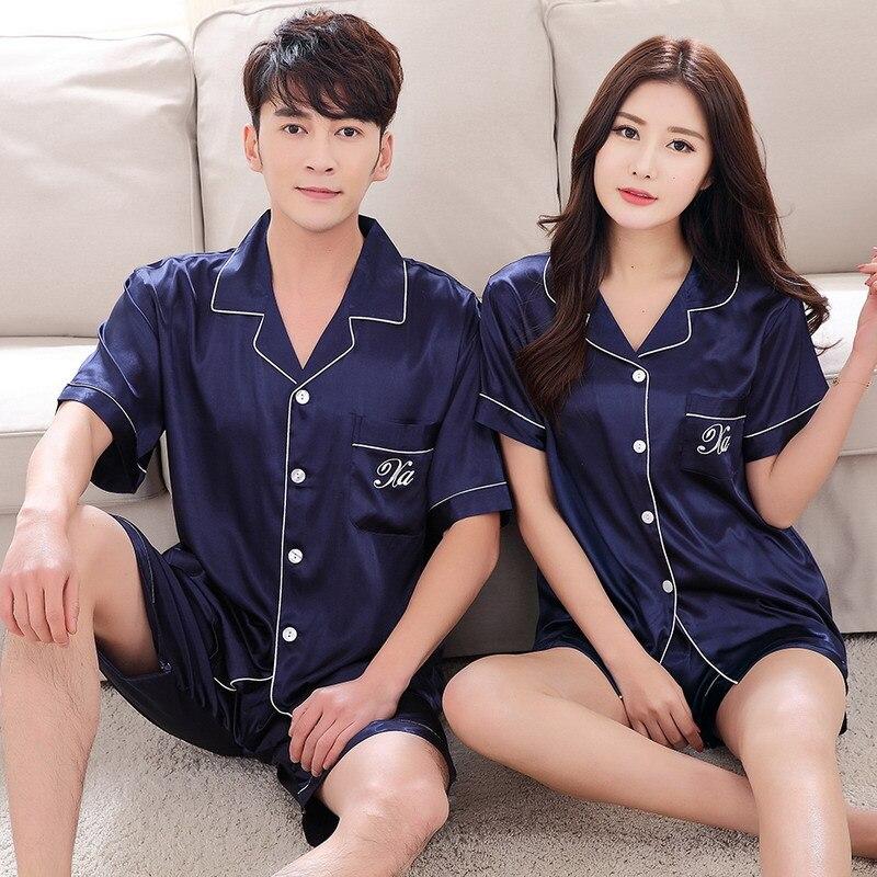 Upscale-Couples-Pajamas-Sets-Men-Women-Long-Short-Sleeve-Sleepwear-Long-Pants-Sleepwear-Nightshirt-Soft-Faux